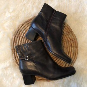 BOGO Shoes-Unisa Brown LeatherBoots Buckle…